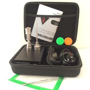 Portable E Quarz Nagel Kit elektrische Dab Nagel E D elektronische Dabbing Temperaturregelung PID-Box mit Ti Tiatanium 10 16 20mm