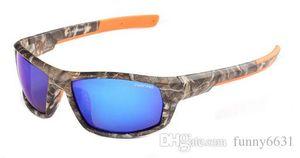 Homens esportes uv400 polarizada camuflagem óculos de sol + sacos de camuflagem óculos de ciclismo mulheres ao ar livre vento eye protector sunglasse ciclismo vidro