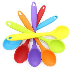 Пищевая силиконовая ложка силиконовая интегрированная совок многоцветный большой размер ложки творческий печенье кондитерский смеситель buttter совок