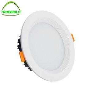 الجملة - عكس الضوء الصمام النازل 5W 7W 9W 12W 15W 18W 24W 85-265V LED DownLights SMD5730 بقعة راحة أسفل ضوء المصباح الكهربائي