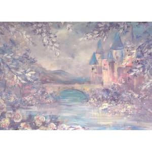 Background Impresso Digital Fotografia Aquarela Fundo Wonderland Fairy Tale Vintage Castelo Bebê recém-nascido Crianças Photo Studio for Children