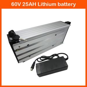 1500W 60V rear rack battery 60V 24.5AH Lithium battery 60V 25AH Bike battery Use 35E 3500MAH cell with 30A BMS 67.2V 2A Charger