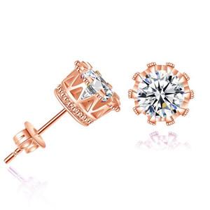 925 orecchini in argento di cristallo naturale all'ingrosso moda piccolo gioielli in argento sterling per le donne permania uomini o donne orecchini