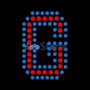 1.8 pouces hauteur alphabet lettre majuscule fer de transfert de strass sur le motif de correction à chaud