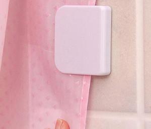 Ducha Clip de cortina de baño cortina hebilla viscosa gancho fijo sin costuras pegajosos ganchos previenen cortina móvil baño herramienta