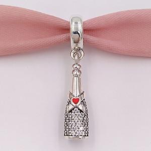 Otantik 925 Gümüş Boncuk Kutlama Zaman kolye Charm Charms Avrupa Pandora Stil Takı Bilezikler Kolye 792152CZ uyar
