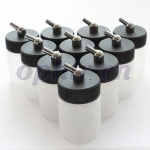 OPHIR 10 adet / grup Şeffaf Airbrush Plastik 22cc için şişe Profesyonel boya fincan Tek Aciont Airbrush # AC019-10x ücretsiz kargo