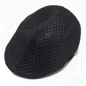 Béret respirant Mesh Beret Newsboy Gorras Planas Chapeau plat Bérets Dirty Chapeau vintage décontracté