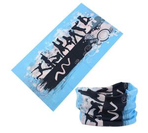 sciarpa multifunzionale fascia di sport esterni di protezione solare Turbante Magia Sciarpe Veil in bicicletta senza saldatura bandane protezione della sciarpa della bicicletta fascia per capelli yoga