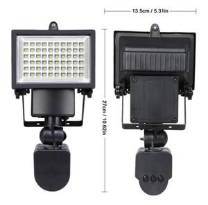 Уличные светодиодные фонари на солнечной батарее 60 светодиодов PIR Датчик движения кузова Солнечные прожекторы Прожекторы Солнечные лампочки