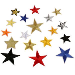 Patch ricamate di ferro sulla patch Star multicolor Star Stripes Sew On Trasferimenti Distintivo di applique distintivo Patch fai da te per abbigliamento