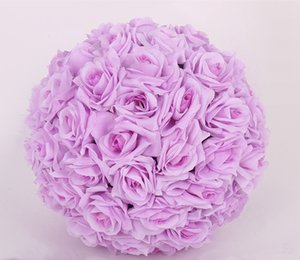20 cm Gül Düğün Ipek Çiçek Topu için Öpüşme Topları Dekoratif Yapay Çiçekler 15 cm - 40 cm Çok Renkli Seçenekler Pomander Topları KB-003