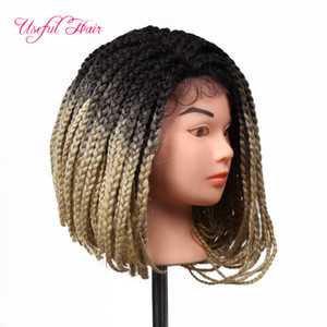 trecce parrucche uncinetto trecce ombre parrucche di capelli sintetici per le donne di colore parrucca del merletto intrecciato NUOVO ARRIAAL REGALO DI NATALE parrucche sintetiche Lace Front