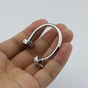 Erkekler için lüks paslanmaz çelik hat tasarım Anahtarlık sıcak satış anahtarlık