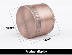 63mm Tabak CNC Grinder 4 Schicht Bronze Rauchmelder Schleifen Aluminium Raum Box Zink-legierung CNC Dental Filter Trockene Kräuter Crusher