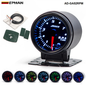 "Car Auto 12V 52mm / 2 ""7 colores Universal Car Auto Tacómetro Gauge Meter LED con sensor y soporte AD-GA52RPM"