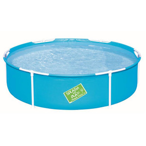 Piscina blu bambino Piscina per bambini Infant vasca da bagno Supporto piscina rotonda for Gioca Estate Outdoor