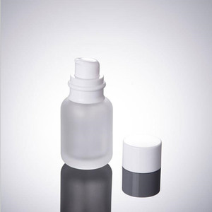 50 ml kosmetische Frostglasflaschen, 1,7 Unzen Glaslotionsflaschen, 50 cc Glaspressflasche, weiße Kappe, leere Flasche F2017458
