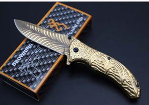OEM brunitura embossment coltello pieghevole 7cr13blade / acciaio maniglia materiale 58HRC durezza EDC strumenti scatola originale di imballaggio spedizione gratuita