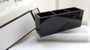 2017 caja de maquillaje de lujo 2C caja de cosméticos de las mujeres maquillaje herramientas artículos de tocador cubo 3 rejilla caja de almacenamiento de acrílico para el regalo VIP