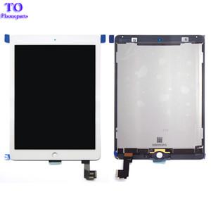 Para ipad air 2 Lcd Display con digitalizador de pantalla táctil para ipad 6 ipad air 2 A1567 A1566 negro blanco envío gratis