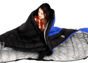 1.5kg / 1.7kg Saco de dormir para camping ultraligero Sobre Blanco Saco de dormir para abajo Duck Down cómodamente Goose Down Sleeping Bag 210 * 80cm