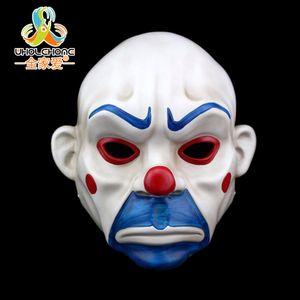 Yetişkin Batman Joker Palyaço Banka Soyguncu Maske Koyu Şövalye Kostüm Cadılar Bayramı Masquerade Parti Fantezi Reçine Maske Ücretsiz Kargo