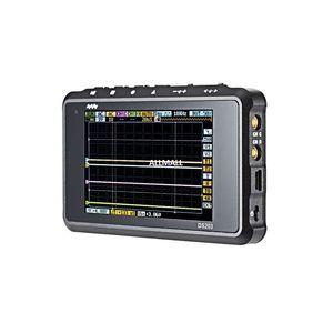 Freeshipping CC DSO digitais Oscilloscope ARM Nano 8MHz portátil de banda 4 Canais ARM Cortex M3 CPU com alumínio Medidor caso