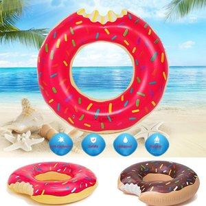 2017 Giocattolo Acqua Estate Gigantic Donut Nuoto Galleggiante gonfiabile di anello di nuoto per adulti e bambini Piscina Galleggianti