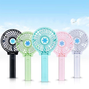 Handy Mini Portable Outdoor Electric Fans Handheld Foldable Fan With LED Lights Wireless USB with Battery Rechargeable Candy 6 Colors