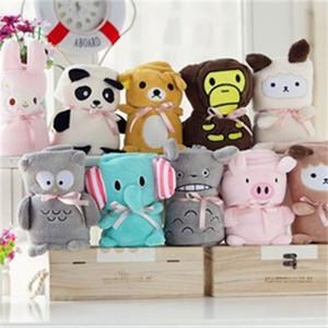 Enfants éléphant chat lapin couvertures hiver chaud couvertures d'animaux bébé emmaillotage bande dessinée bébé drap de lit sac de couchage 80 * 100 cm C2509