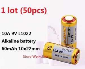 50pcs 1 lot 10A 9V 10A9V 9V10A L1022 pile alcaline sèche 9 Volt Batteries remplacer A23L Livraison Gratuite