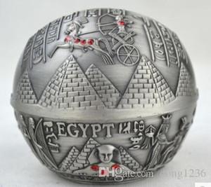 Египетский стиль Фараон узор пирамида узор сферическая пепельница пепельница олово, латунь красная медь