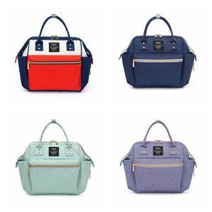 Mommy Bags Nappy Mochilas Madre Mochila Bolsas de pañales de gran volumen Bolsas de viaje de viaje al aire libre 4 colores 10 unids OOA2909