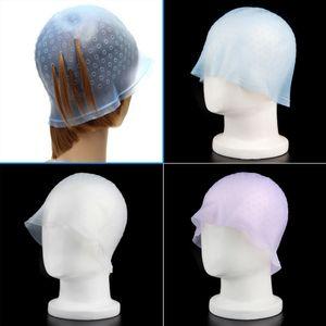 3pcs المهنية الشعر الملون إعادة الاستخدام قبعة صبغة تسليط الضوء مع خطاف الصقيع Tipping لون أدوات التصميم عالية الجودة