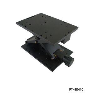 Manuales exactos de elevación del eje Z manual de laboratorio óptico Jack Ascensor Ascensor deslizante 120 mm de recorrido PT-SD410