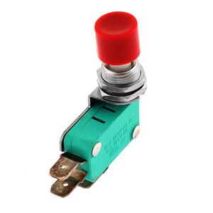 AC 125 V / 250 V 16A SPDT NO NC Anlık Kap Push Button Mikro Anahtarı DS438 Kırmızı B00443
