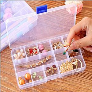 Ajustável Compacto 10 15 24 Grids Compartimento De Plástico Caixa De Armazenamento De Recipiente Caixa De Jóias Caso Brinco Recipientes Pequenos Recipientes Caixas