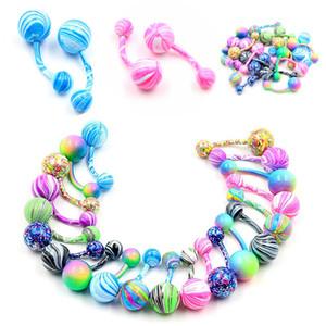 Высокое качество мода ювелирные изделия Sexy красочные пупок кольцо пирсинг ювелирные изделия изогнутые пупка живота кольцо CC543