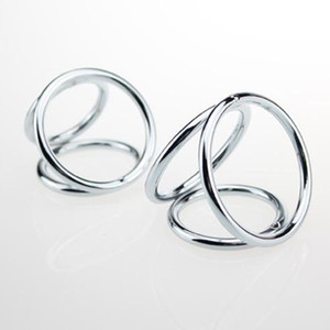 Yüksek kaliteli erkek paslanmaz çelik metal penis cock ring 3 yüzük birlikte tasarım, seçim için 2 ürün
