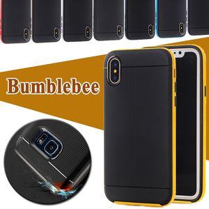 Bumblebee Case Hybrid Heavy Duty Armadura robusta Robot a prueba de golpes Cubierta a prueba de caídas para iPhone X 8 7 Plus 6 6S Samsung S8 S7 Edge