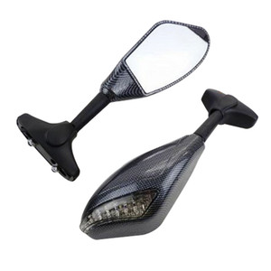Motorcycle Carbon Turn Signal Integrated Mirror For YAMAHA YZF-R1 R1 1998 1999 2000 2001 R6S R6 LED TURN SIGNAL MIRRORS