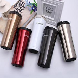 La bottiglia d'acqua all'ingrosso di Starbucks ad alta capacità 500ML di vetro dell'acciaio inossidabile della tazza di caffè della tazza dell'isolamento termico libera il regalo