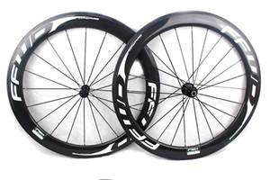 FFWD hızlı ileri F6R karbon bisiklet tekerlekleri 60mm tüm beyaz çıkartmaları kattığı tübüler yol bisiklet tekerlek 700C genişlik 25mm Powerway R13 hub
