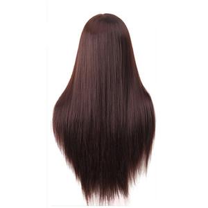 60 cm peluquería muñecas cabeza yaki pelo muy largo Mujer Maniquí Peluquería Styling Professional Training Head Mannequin Head + Clamp