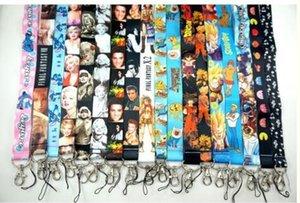 100pcsx Mischen Beliebte Cartoon Logo Anime Trageband ID Abzeichen Schlüsselhalter Verschiedene Cartoon Designs Multi Auswahl