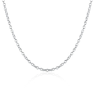 Moda Jóias corrente de prata 925 Colar Rolo de cadeia para mulheres Chain Link um milímetro 16 18 20 24 polegadas