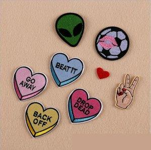 8PCS Diy Love parches de fútbol para la ropa hierro parche bordado apliques de hierro en parches accesorios de costura insignia en bolsa de ropa