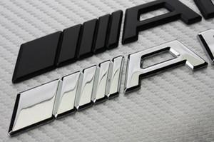 10pcs Car-styling / lot de prata do cromo preto 3M para AMG decalque emblema do logotipo crachá carro para Mercedes CL GL SL ML A B C E S autocolante