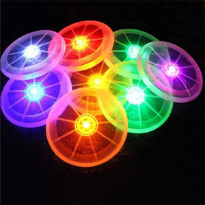 Wholesale- Colorful Frisbee UFO Kid Toy Spin LED Light Outdoor Toy Flying Saucer Disc Educational UFO Children Beach toys Toy Sports